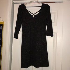 🍁MOVING SALE🍁 Black sparkly 3/4 sleeve dress